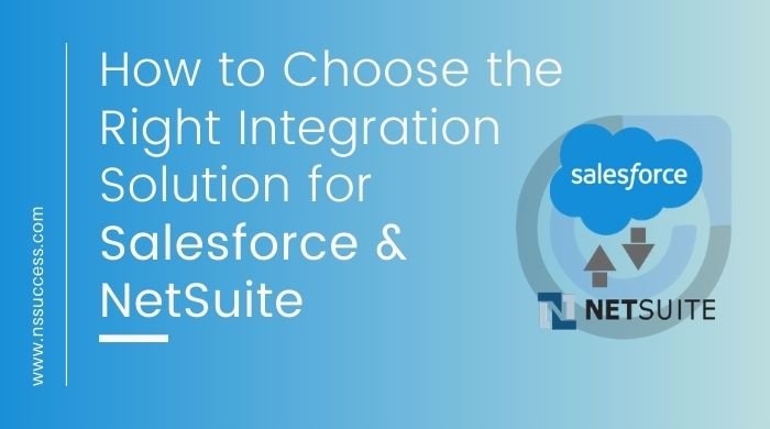 Integration Solution for Salesforce and NetSuite